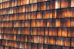 Abstract wooden texture of cedar shingles Royalty Free Stock Photos