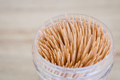 Abstract wooden toothpicks on wood background Stock Images
