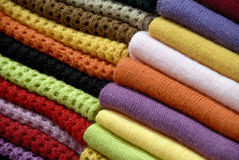 Abstract Woollens. A Close Up Abstract Shot of Folded Woollens Royalty Free Stock Photography