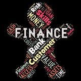 Abstract words cloud of Finance. The illustration to words cloud of the FINANCE as background Royalty Free Stock Images
