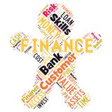 Abstract words cloud of Finance. The illustration to words cloud of the FINANCE as background Stock Photography