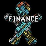 Abstract words cloud of Finance. The illustration to words cloud of the FINANCE as background Stock Photos