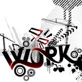 Abstract work graphic Royalty Free Stock Photos