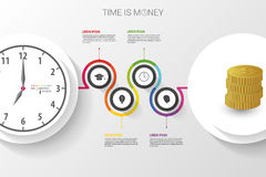 Abstract work time management planning infographics template. Stock Image