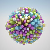 Abstract World. 3D render of abstract world Stock Image