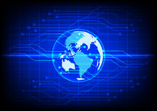 Abstract world digital technology electronic  blue background Stock Photography
