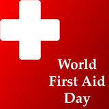 Abstract for World First Aid Day. Creative vector abstract for World First Aid Day with nice and beautiful design illustration in a background Stock Photo