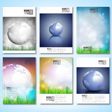 Abstract world globe background. Brochure, flyer. Or report for business, template vector Stock Photography