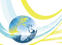 Abstract world globe design Royalty Free Stock Images