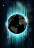 Abstract world globe space background Stock Images