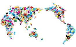Abstract World map stock photo