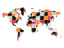Abstract world map Royalty Free Stock Image