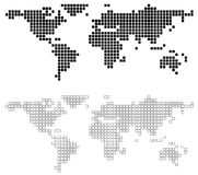 Abstract World Map. Background illustration, Vector Royalty Free Stock Photo