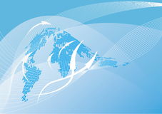 Abstract world map background royalty free illustration