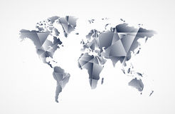 Abstract World map background in polygonal style Stock Images