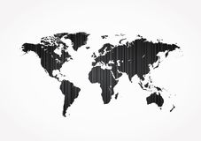 Abstract world map Stock Images