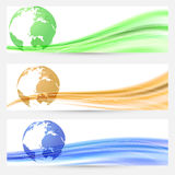 Abstract world map colorful cards collection Royalty Free Stock Photography