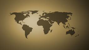 Abstract world map, dark yellow Stock Photography