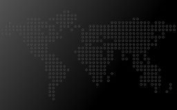 Abstract world map of dots. Vector background Royalty Free Stock Images