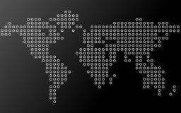 Abstract world map of dots. Vector background Stock Photo