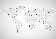 Abstract world map of dots Royalty Free Stock Image