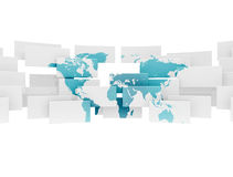 Abstract world map illustration Stock Photography