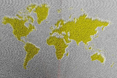 Abstract world map illustration. Abstract world map science fiction Stock Photo