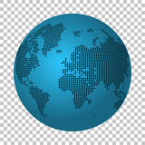 Abstract world map made of dots. Earth continental dot map. Royalty Free Stock Images