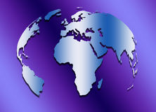 Abstract world map. Stock Photo