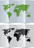 Abstract world map on paper Royalty Free Stock Photo