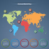 Abstract world map with pointers template. Vector eps 10 Royalty Free Stock Photos