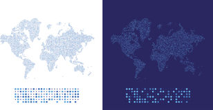 Abstract world map in a round dots.. Flat  illustration EPS 10 Royalty Free Stock Photography