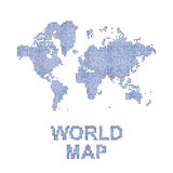 Abstract world map in a round dots. Flat  illustration EPS 10.  Stock Image