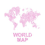Abstract world map in a round and square dots. Flat  illustration EPS 10 Stock Photo