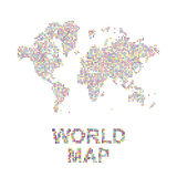 Abstract world map in a round and square dots. Flat  illustration EPS 10.  Stock Images