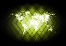 Abstract world map shiny backdrop Stock Photo