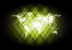 Abstract world map shiny backdrop Stock Photo