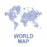 Abstract world map in a square dots. Flat  illustration EPS 10.  Royalty Free Stock Images