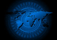 Abstract world map technology background some Elements of this image furnished by NASA Stock Images