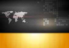 Abstract world map technology background Royalty Free Stock Image