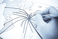 Abstract World Map With Continent Royalty Free Stock Image