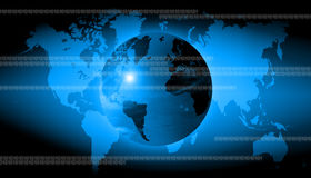 Abstract world technology background. Abstract the world technology background stock illustration