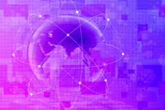 Abstract world and technology background Stock Images