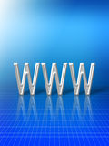 Abstract of world wide web. Abstract graphic of World Wide Web; white letters on blue background Stock Illustration