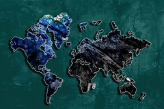 Abstract World - World Map 2. An abstract world in turquoise and blue Royalty Free Stock Images