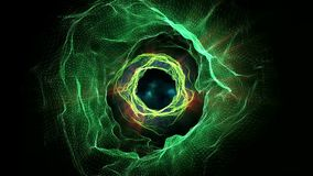 Abstract wormhole stock video footage