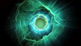 Abstract wormhole stock footage