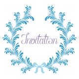 Abstract Wreath Invitation Royalty Free Stock Images