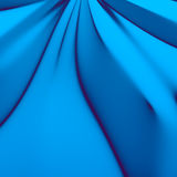 Abstract Wrinkled Blue Material. Abstract Wrinkled 3D Blue Material Simple Background Royalty Free Stock Images