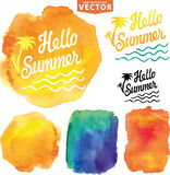 Abstract wtercolor background.Summer design Royalty Free Stock Images